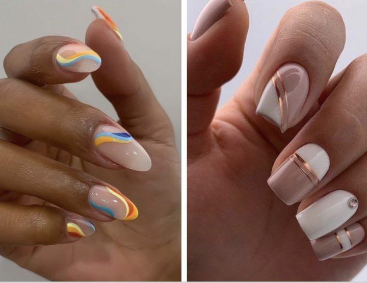 8 Απλά αλλά εντυπωσιακά σχέδια στα νύχια με γραμμές!