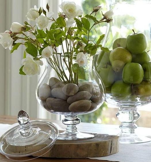 βάζο πέτρες λουλούδια