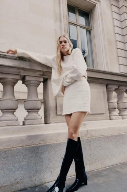 άσπρη μίνι φούστα