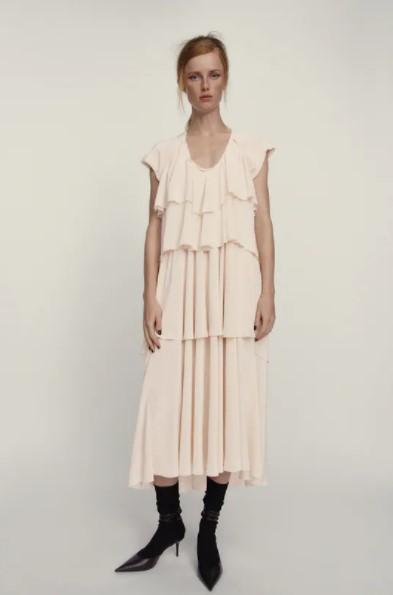 άσπρο φόρεμα βολάν