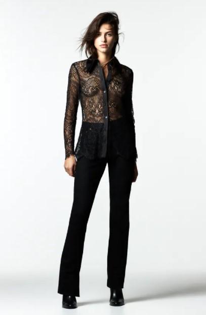δαντελωτό πουκάμισο ρούχα Zara xειμώνα 2021-2022