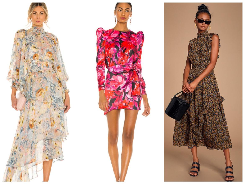 floral φορέματα