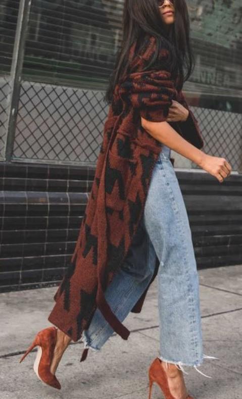 φθινοπωρινό ντύσιμο με τζιν