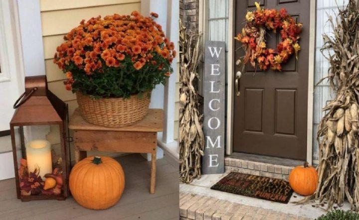 Φθινοπωρινή διακόσμηση στην είσοδο του σπιτιού εξωτερικά!