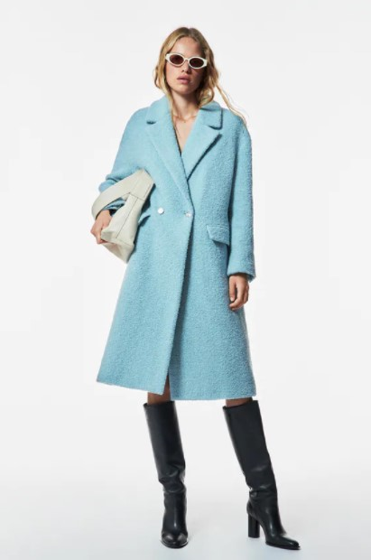 γαλάζιο παλτό
