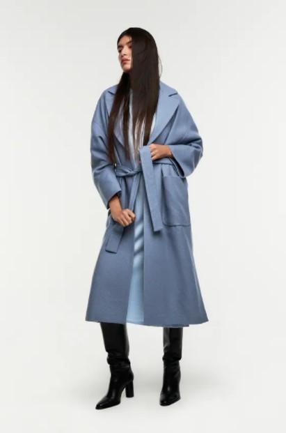 γκρι γαλάζιο παλτό