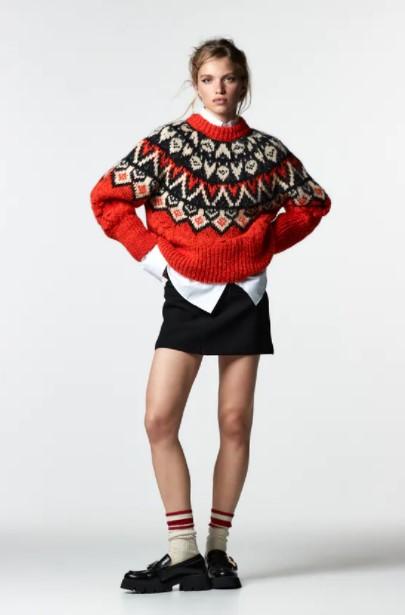 κόκκινο πουλόβερ
