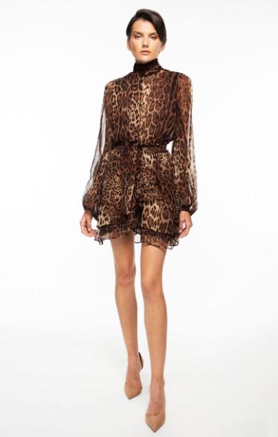 λεοπάρ μίνι φόρεμα φθινοπωρινά φορέματα