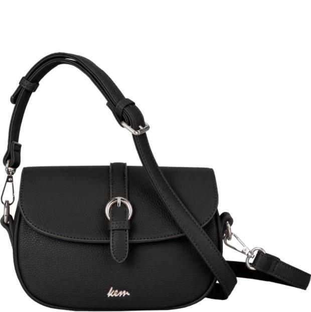 μαύρη τσάντα αγκράφα