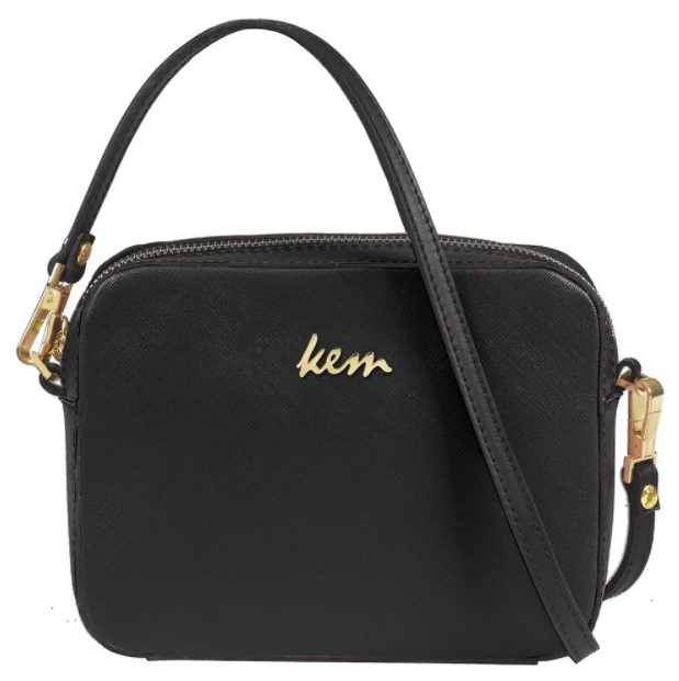 μαύρη τσάντα χιαστί