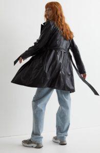 μαύρο δερμάτινο παλτό
