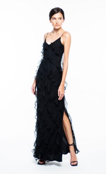 μαύρο φόρεμα σκίσιμο