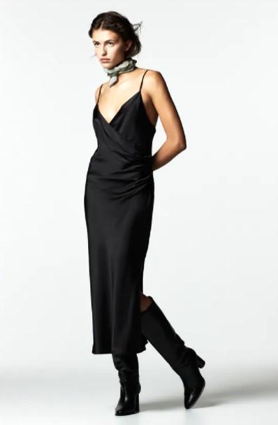 μαύρο slip dress