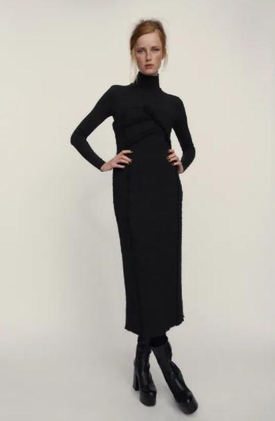 μαύρο ζιβάγκο φόρεμα