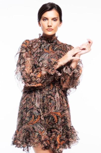 μίνι φόρεμα ζιβάγκο