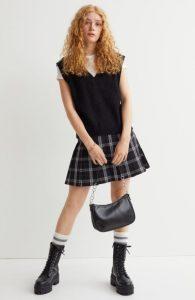mini καρό φούστα