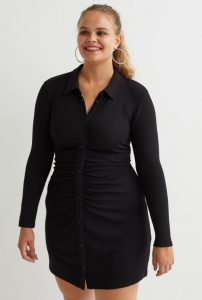 mini μακρυμάνικο φόρεμα