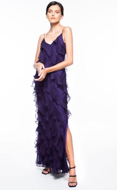 μωβ μάξι φόρεμα