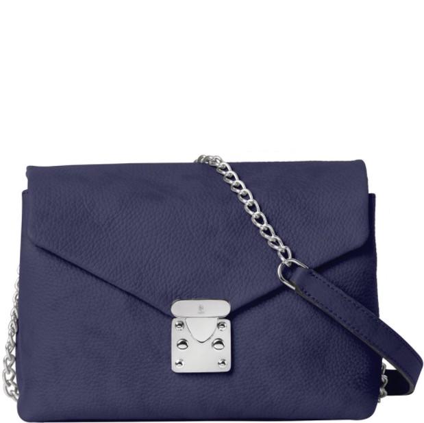μπλε τσάντα χιαστί