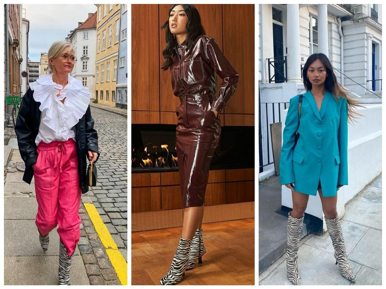 outfits με animal print μπότες για τον χειμώνα 2022