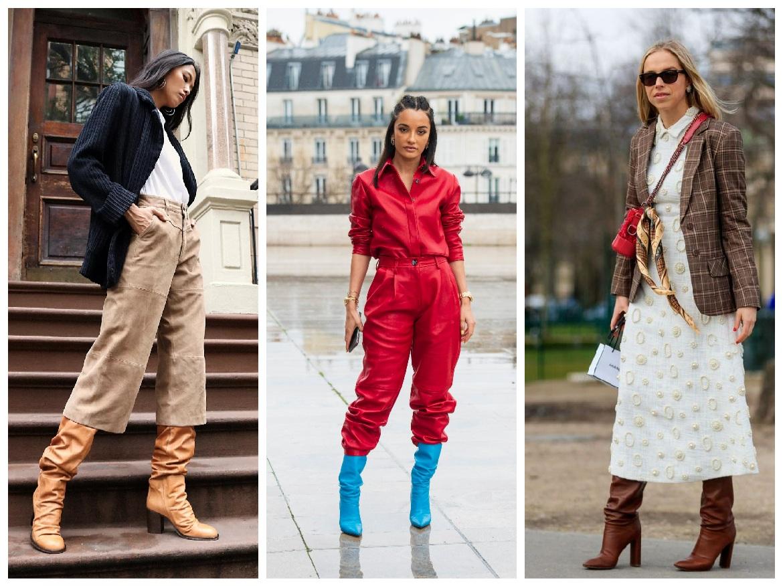 ντυσίματα με μπότες με σούρες για τον χειμώνα 2022