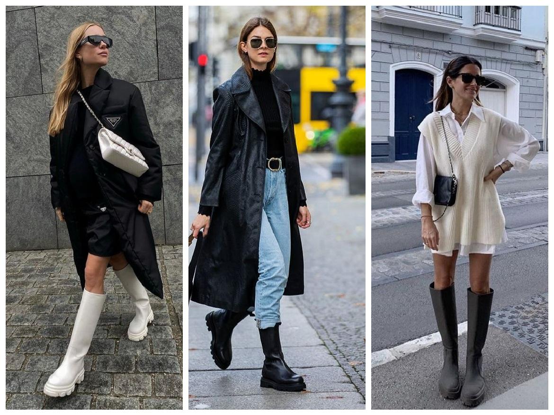 Outfits με ελαστικές μπότες