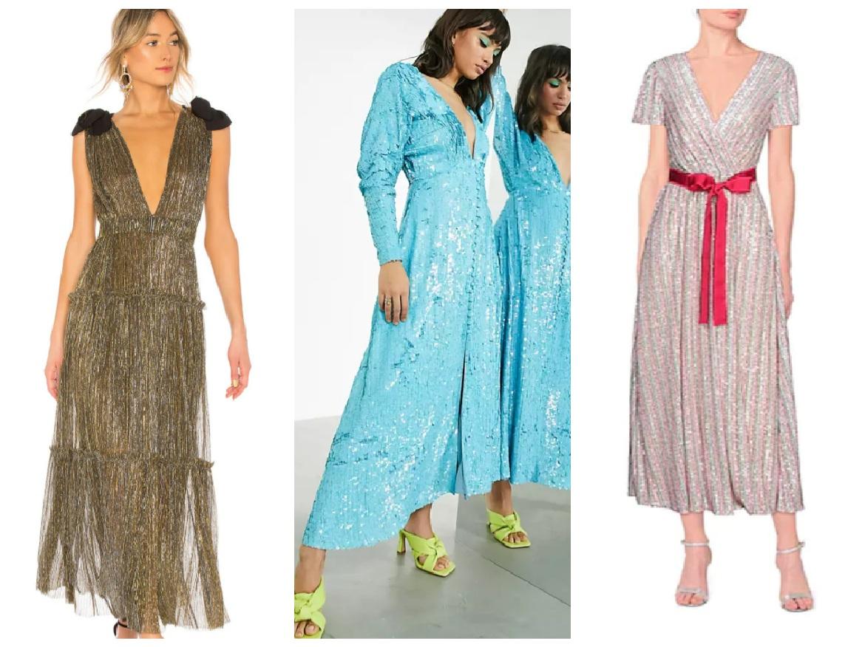 λαμπερά φορέματα
