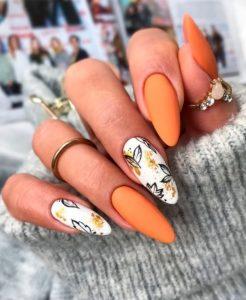 πορτοκαλί floral μανικιούς