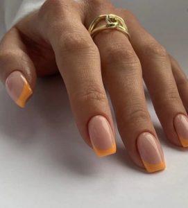 πορτοκαλί αλλικό μανικιούρ