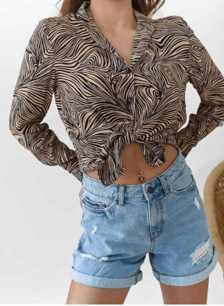 πουκάμισο animal print