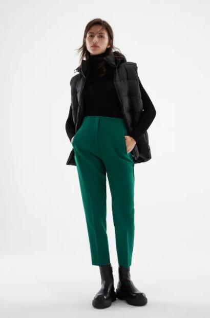 πράσινο ψηλόμεσο παντελόνι
