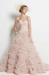 ροζ νυφικο πουπουλενιο