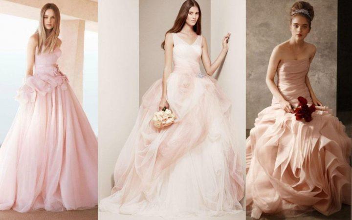 Ιδανικές επιλογές για ροζ νυφικά!