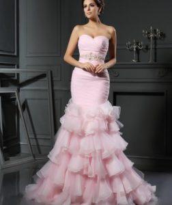 ροζ νυφικο γοργονε τρομπετα