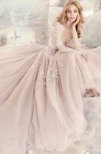 μακρυ νυφικο ροζ