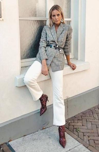 σακάκι ζώνη άσπρο παντελόνι φορέσεις σακάκι φθινόπωρο