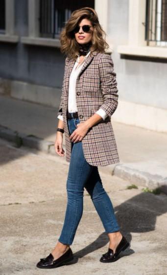 τζιν παντελόνι καρό σακάκι φορέσεις σακάκι φθινόπωρο