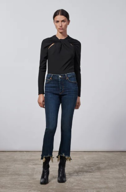 τζιν παντελόνι ξέφτια ρούχα Zara xειμώνα 2021-2022
