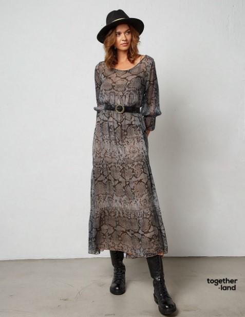 animal print φόρεμ BSB χειμώνα 2022