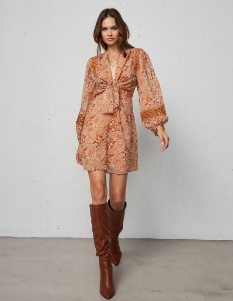 boho μίνι φόρεμα BSB χειμώνα 2022
