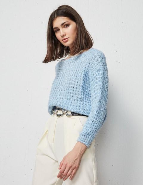 γαλάζιο πουλόβερ