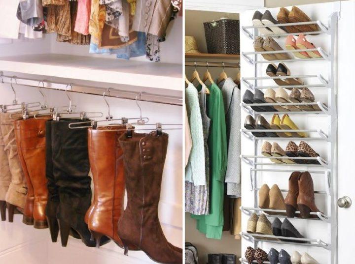 8 Έξυπνες ιδέες οργάνωσης για τα παπούτσια σου