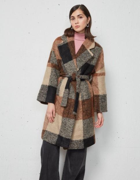 παλτό καρό BSB χειμώνα 2022
