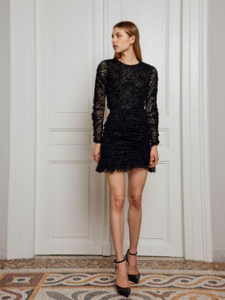 μαύρη μίνι φούστα BSB χειμώνα 2022