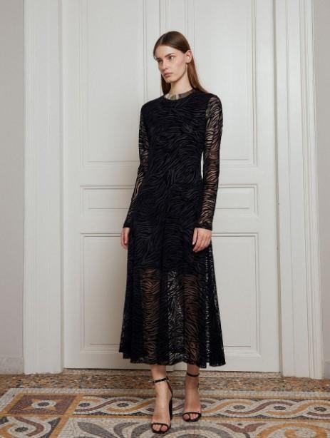 μαύρο φόρεμα διαφάνειες