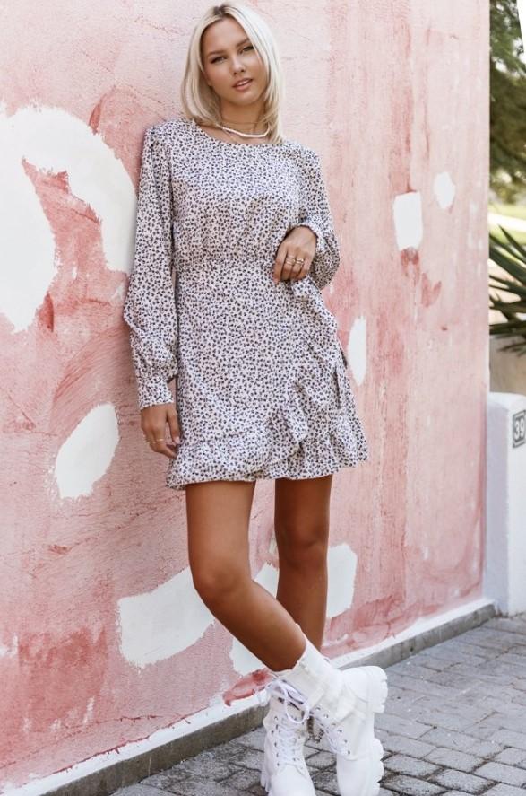 mini φθινοπωρινό φόρεμα