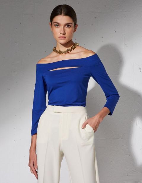 μπλε έξωμη μπλούζα BSB χειμώνα 2022