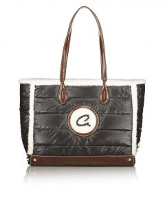 νάυλον μαύρη τσάντα με λογότυπο axel