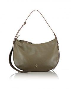 πράσινη χιαστί τσάντα με ρυθμιζόμενο λουρί