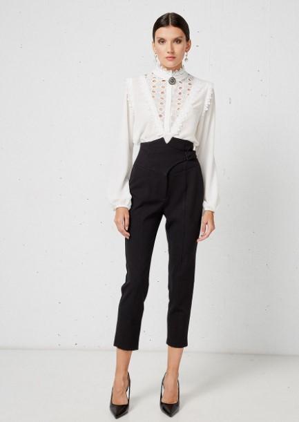 ψηλόμεσο μαύρο παντελόνι